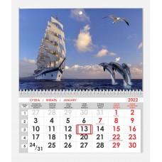 Календарь односекционный Парусник 03