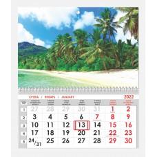 Календарь односекционный Природа 12