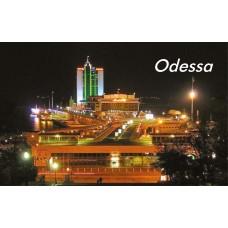Магниты с видами Одессы. Морвокзал ночной 5 (90х55)
