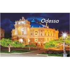 Магниты с видами Одессы. Оперный театр ночной 14 (90х55)